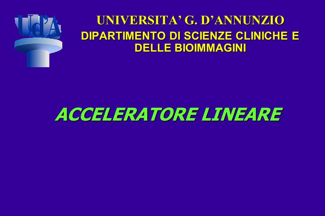 ACCELERATORE LINEARE UNIVERSITA G. DANNUNZIO DIPARTIMENTO DI SCIENZE CLINICHE E DELLE BIOIMMAGINI