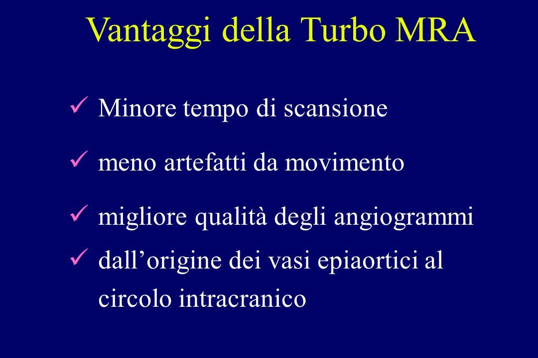 Minore tempo di scansione meno artefatti da movimento migliore qualità degli angiogrammi dallorigine dei vasi epiaortici al circolo intracranico Vanta