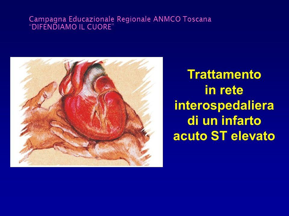 Campagna Educazionale Regionale ANMCO Toscana DIFENDIAMO IL CUORE Trattamento in rete interospedaliera di un infarto acuto ST elevato