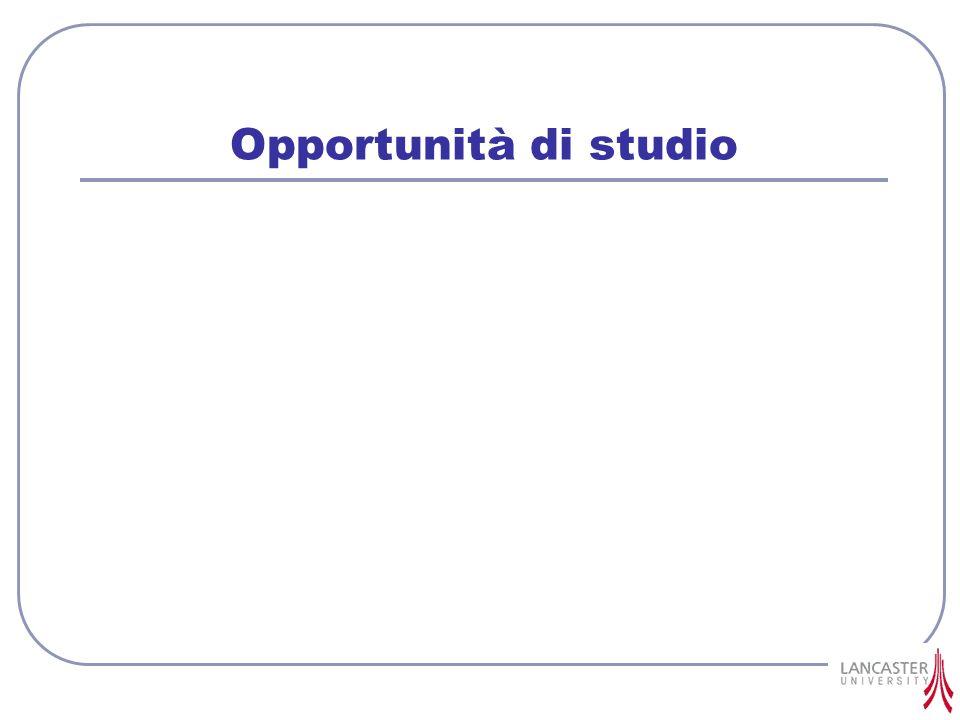 Opportunità di studio