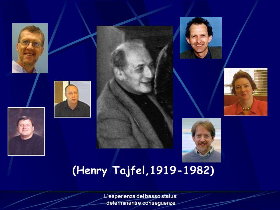 L esperienza del basso status: determinanti e conseguenze (Henry Tajfel,1919-1982)