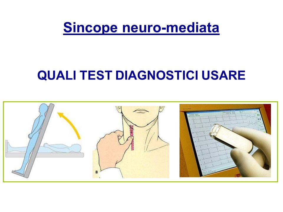 Sincope neuro-mediata QUALI TEST DIAGNOSTICI USARE