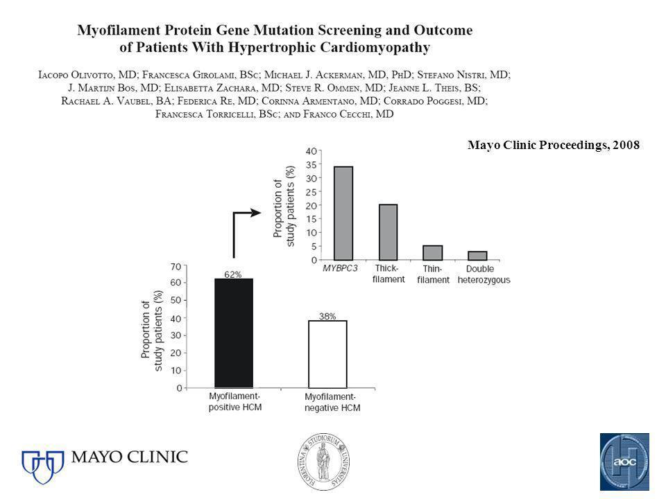 Mayo Clinic Proceedings, 2008