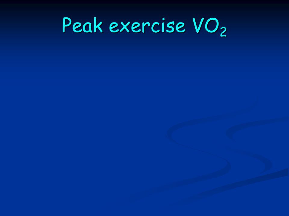 Peak exercise VO 2