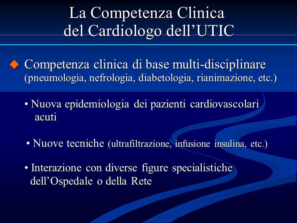 Competenza clinica di base multi-disciplinare (pneumologia, nefrologia, diabetologia, rianimazione, etc.) Competenza clinica di base multi-disciplinar