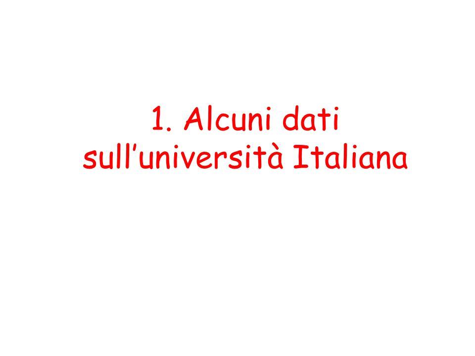 Ad oggi (2008) in Italia sono istituite 60 Università statali e 7 tra Scuole e Istituti pubblici che organizzano prevalentemente corsi di dottorato e Master a numero chiuso Le università Sono inoltre state istituite anche 27 Università private, di cui 10 telematiche.