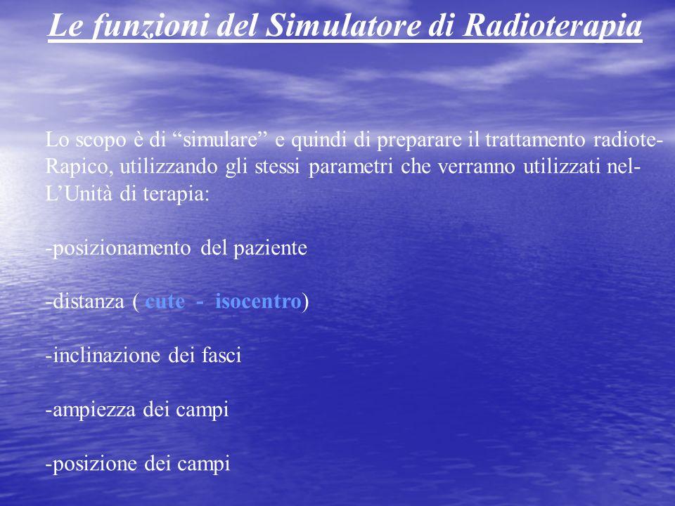 Lo scopo è di simulare e quindi di preparare il trattamento radiote- Rapico, utilizzando gli stessi parametri che verranno utilizzati nel- LUnità di t
