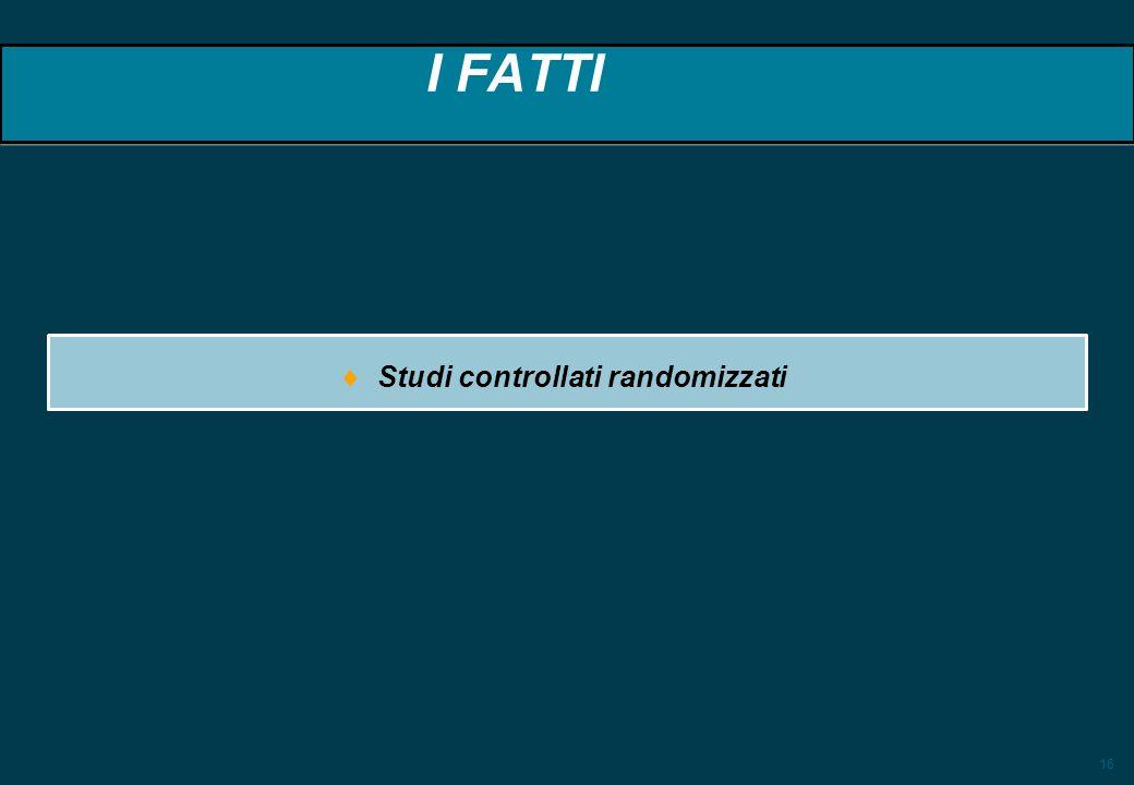 16 I FATTI Studi controllati randomizzati