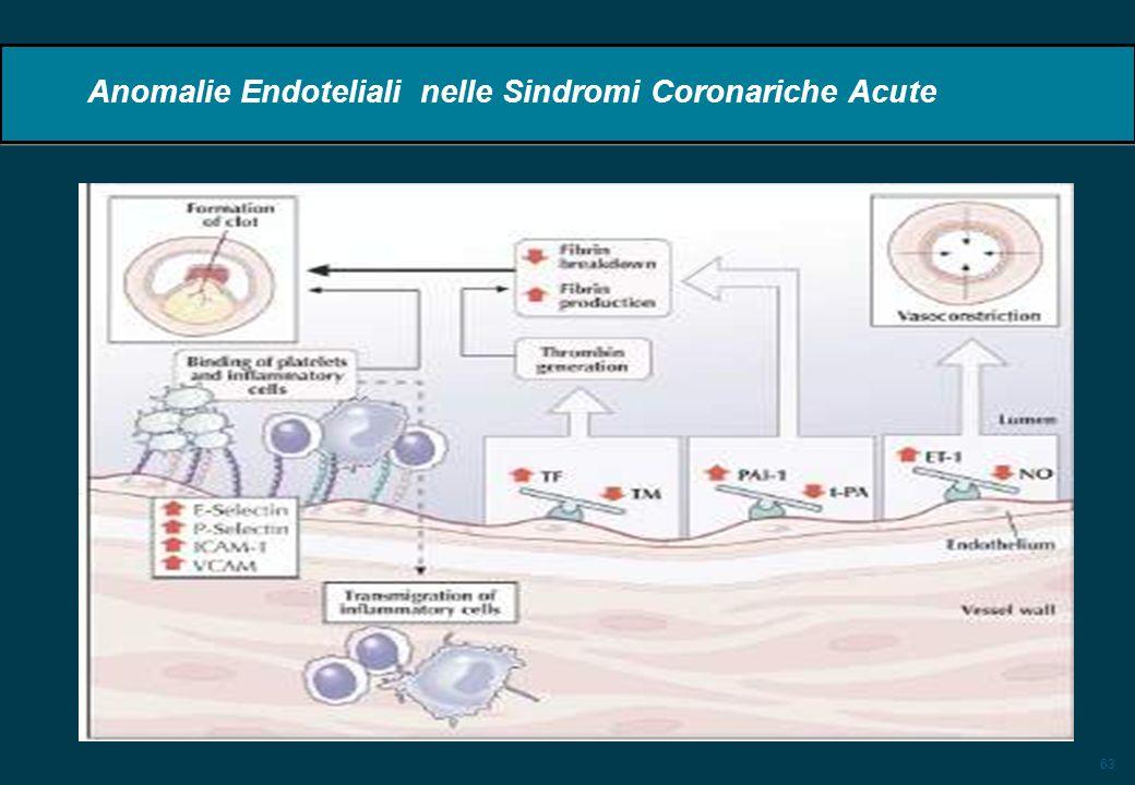 63 Anomalie Endoteliali nelle Sindromi Coronariche Acute