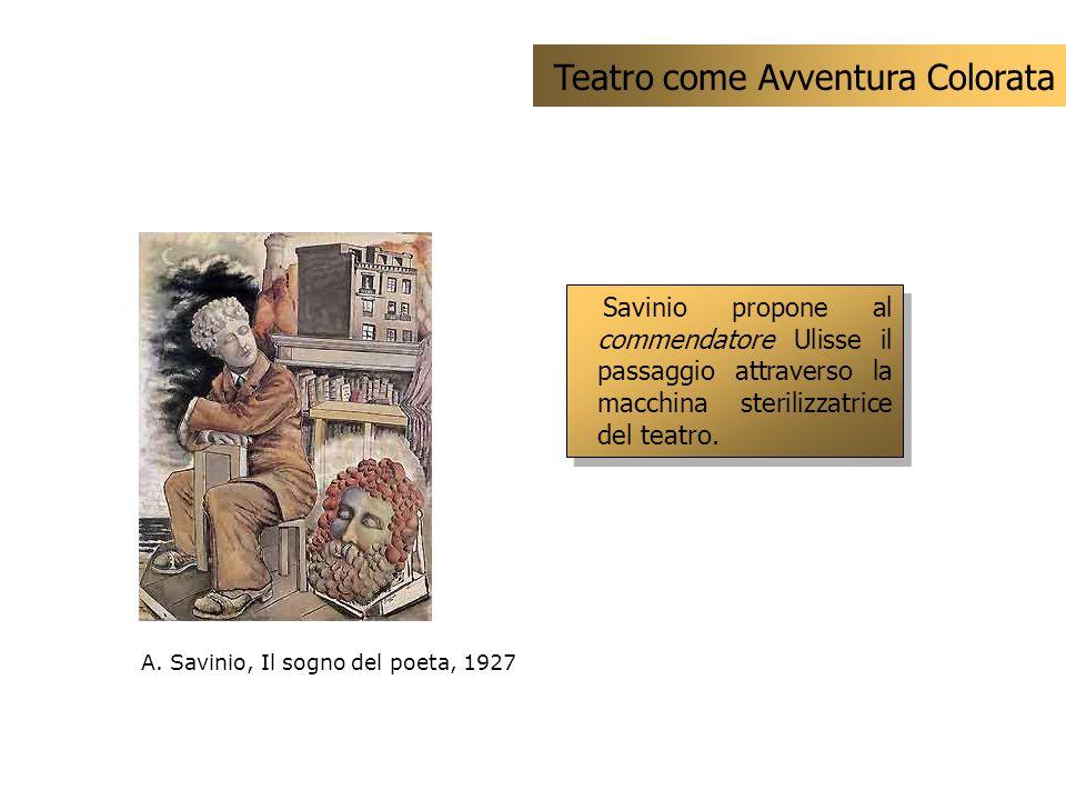 Savinio propone al commendatore Ulisse il passaggio attraverso la macchina sterilizzatrice del teatro. Teatro come Avventura Colorata A. Savinio, Il s