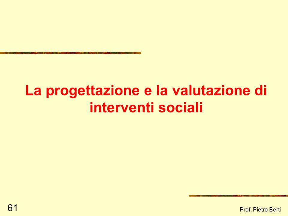 Prof. Pietro Berti 60 Profilo del futuro Rappresenta il modo in cui una comunità si immagina il futuro, in relazione a tutti gli altri profili ad esem