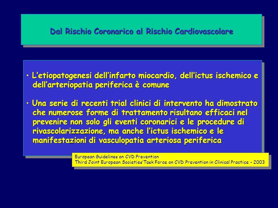 Letiopatogenesi dellinfarto miocardio, dellictus ischemico e dellarteriopatia periferica è comune dellarteriopatia periferica è comune Una serie di re