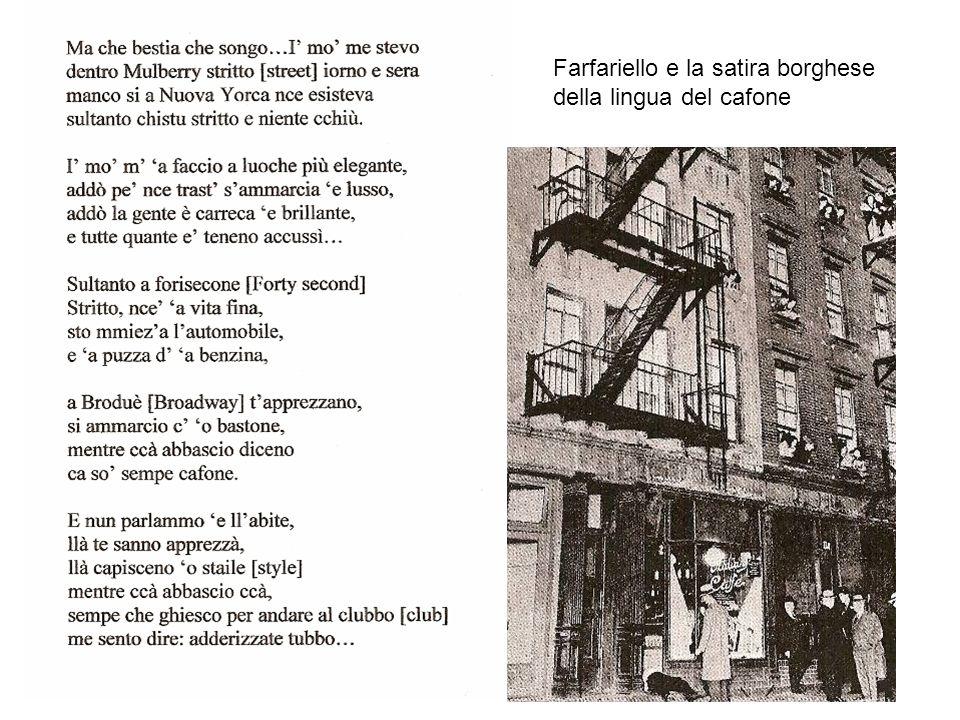 LA LINGUA DELLA GIOBBA: esempi di pronuncia allitaliana contrattore tracca picco grosseria bordante olivetta farma fensa contractor = imprenditore track = traccia, binario, ecc.