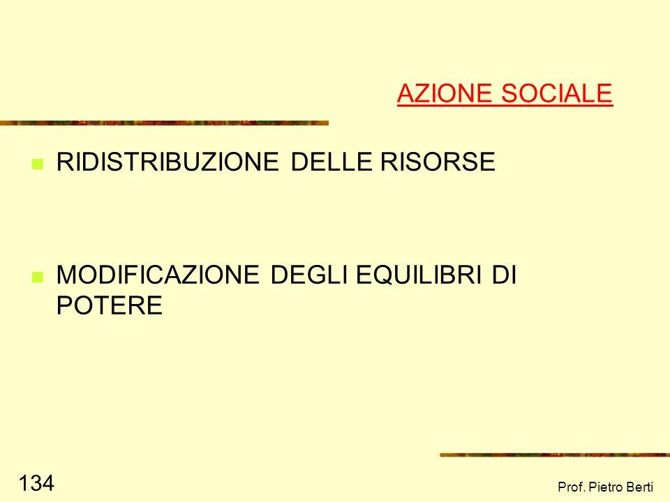 Prof. Pietro Berti 133 Il compito dello psicologo di comunità è sostenere il processo di empowerment sociale favorendo lassunzione di responsabilità A