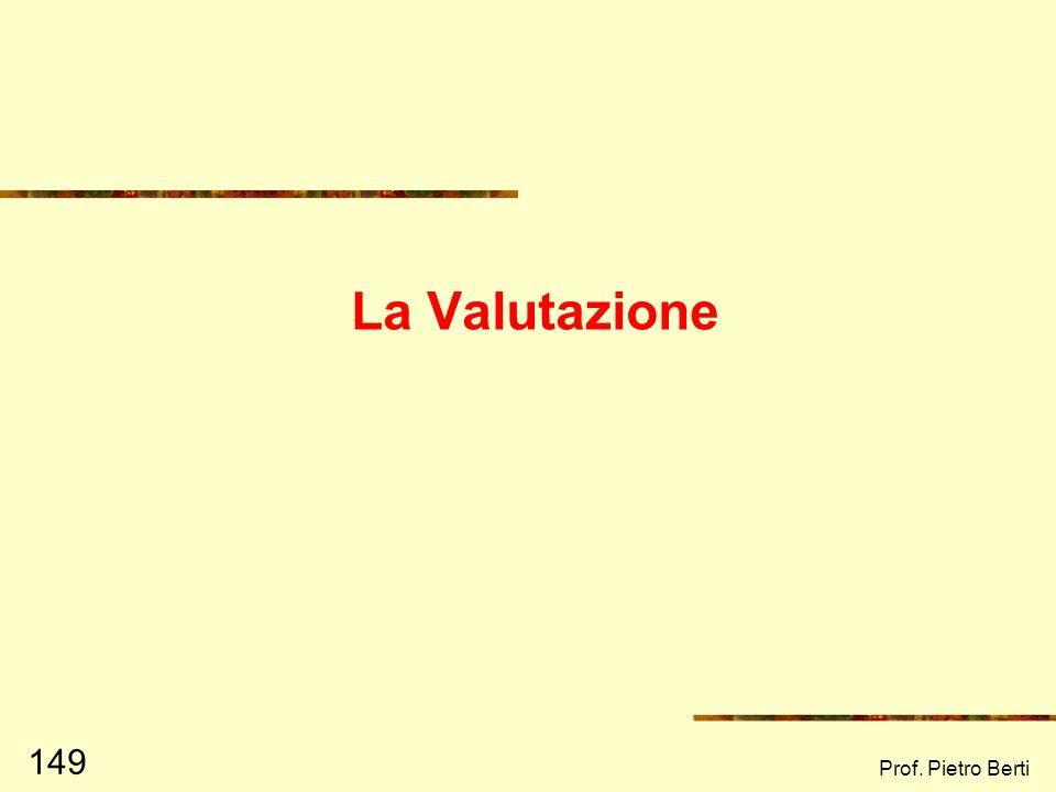 Prof. Pietro Berti 148 Project Cycle Management: le fasi Programmazione strategia operativa Ideazione Formulazione Finanziamento reperimento risorse R