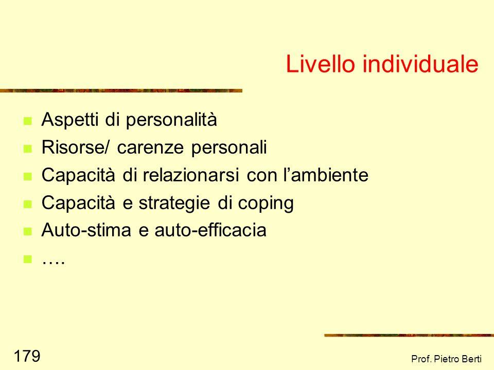 Prof. Pietro Berti 178 I livelli ecologici Fig. 1 pag. 46