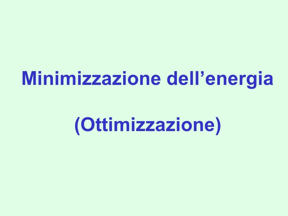 Superfici di energia potenziale Punti di sella Un punto di sella oltre ad avere le derivate prime rispetto a tutte le coordinate uguali a zero deve avere tutte le derivate seconde positive tranne che in una direzione.