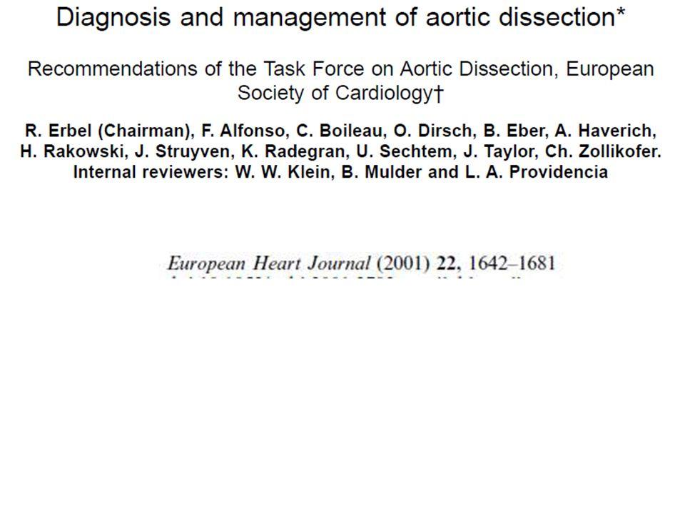 ECOCARDIOGRAFIA E PATOLOGIA DELLAORTA TORACICA - CONCLUSIONI (III) Nella dilatazione/aneurisma aortica è utile un follow- up ecocardiografico sistematico.