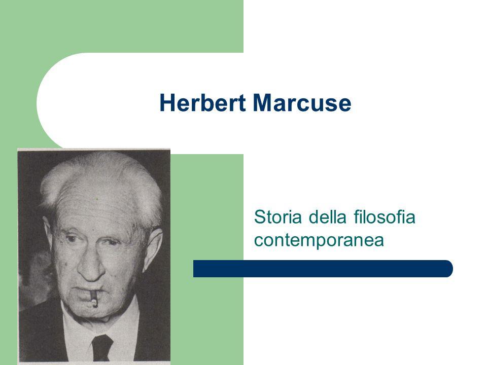 Herbert Marcuse Storia della filosofia contemporanea