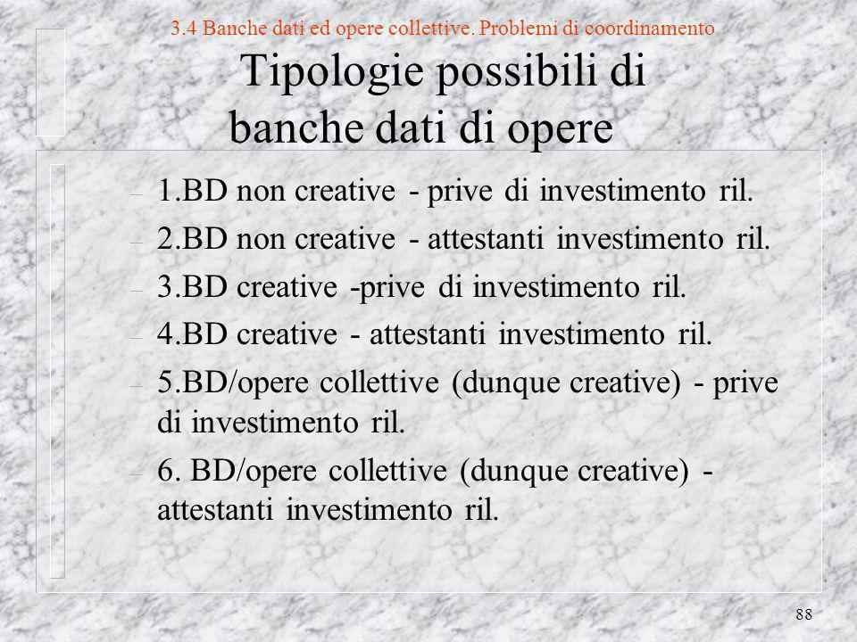 88 3.4 Banche dati ed opere collettive.