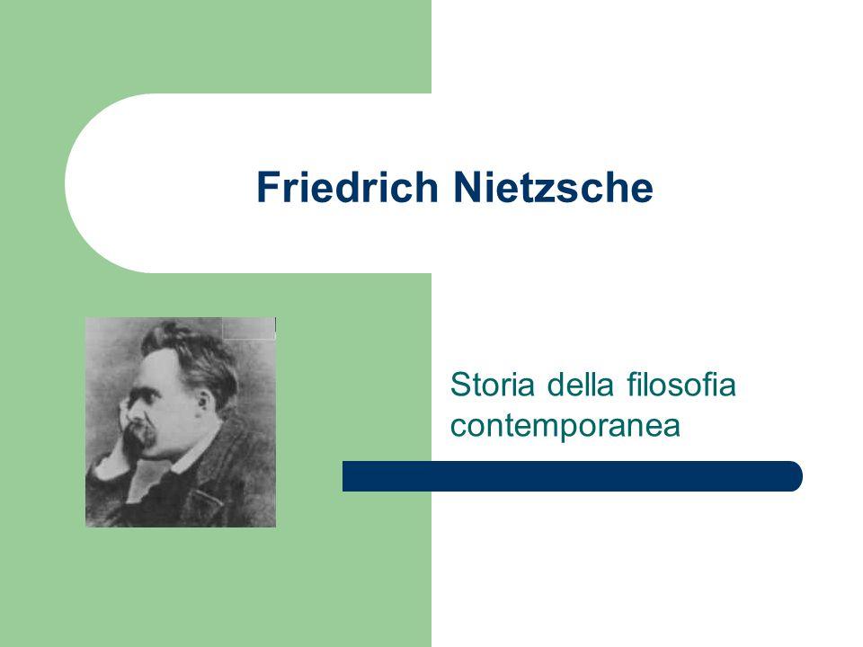 Friedrich Nietzsche Storia della filosofia contemporanea