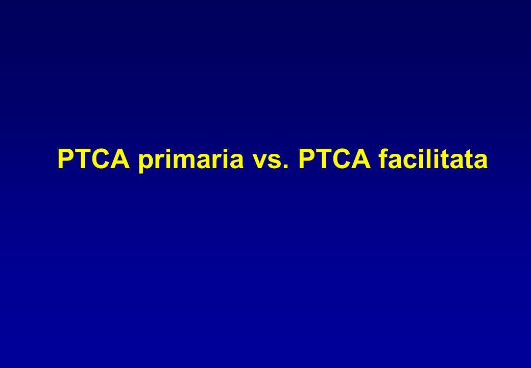 PTCA primaria vs. PTCA facilitata