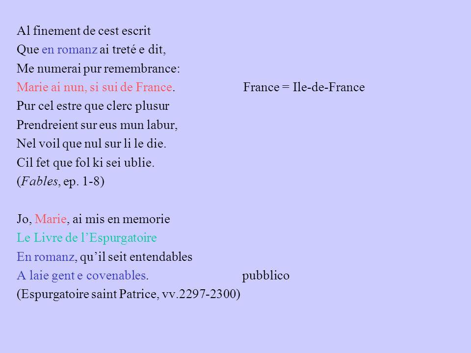 Maria nel suo tempo anonimato delle opere medievali firma legata alla pratica del patronage littéraire Oez, signurs, ke dit Marie, Ki en sun tens pas