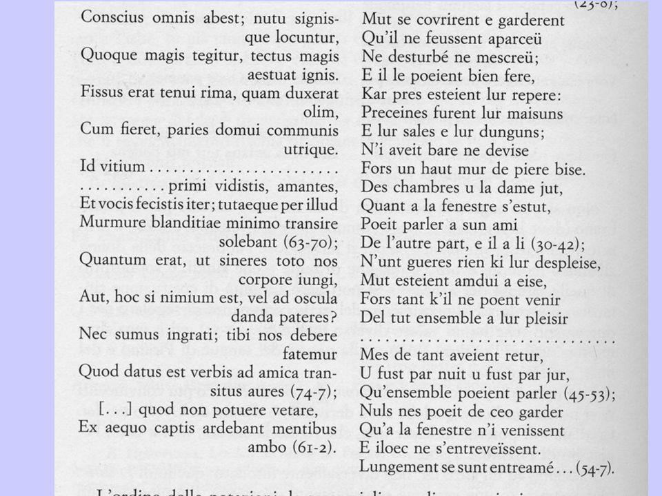 Ovidio, Metamorfosi (episodio di Piramo e Tisbe) Maria di Francia, Laüstic