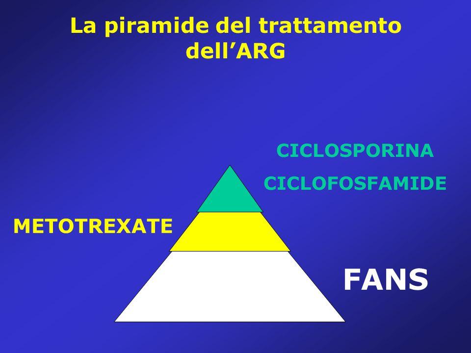 La piramide del trattamento dellARG CICLOSPORINA CICLOFOSFAMIDE METOTREXATE FANS