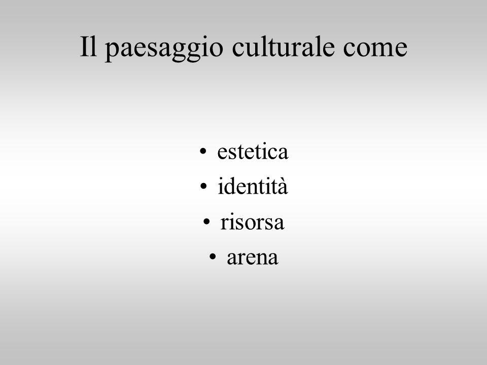 Il paesaggio culturale come estetica identità risorsa arena