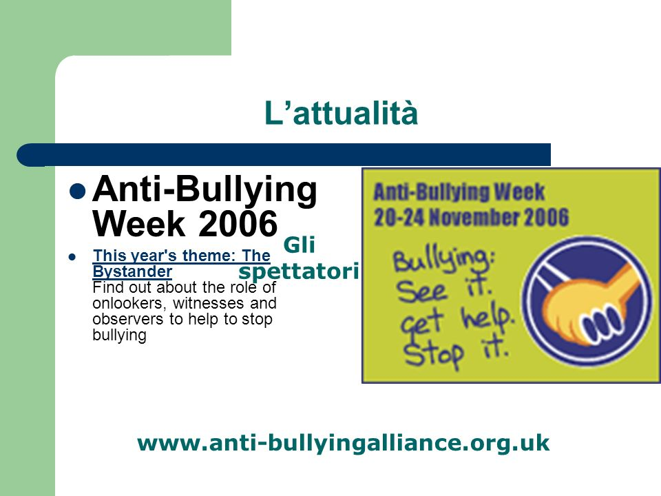 ATTENZIONE AI SEGNALI! TOGETHER WE CAN STOP BULLYING