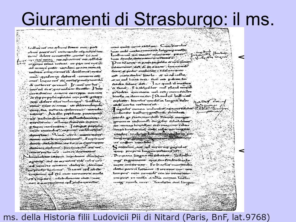 Giuramenti di Strasburgo: il ms. ms. della Historia filii Ludovicii Pii di Nitard (Paris, BnF, lat.9768)
