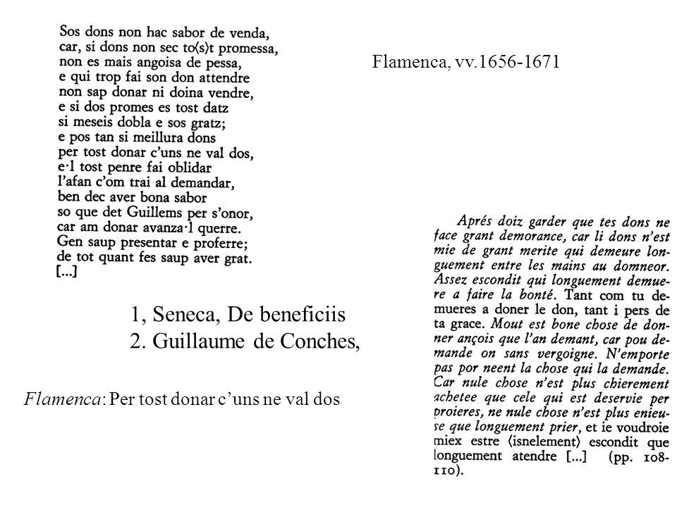 Flamenca, vv.1656-1671 1, Seneca, De beneficiis 2.