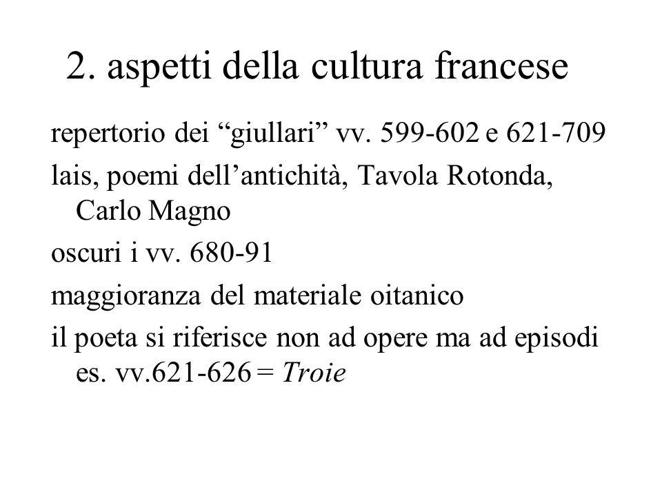 2. aspetti della cultura francese repertorio dei giullari vv.