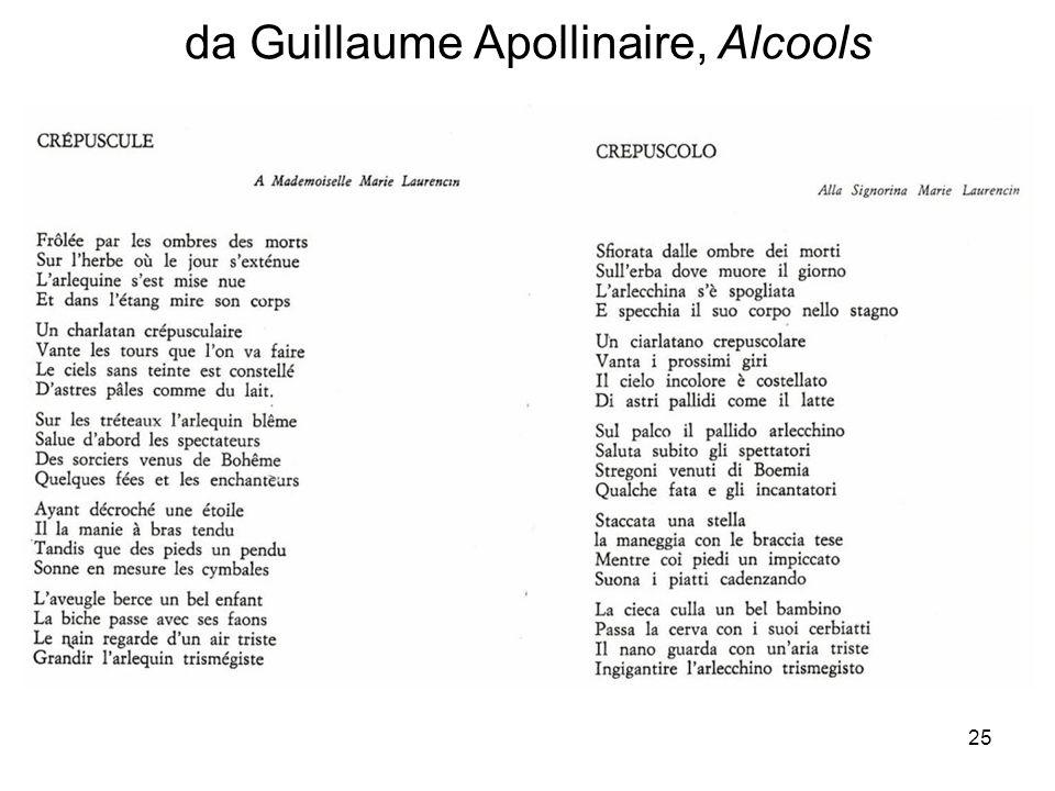 25 da Guillaume Apollinaire, Alcools