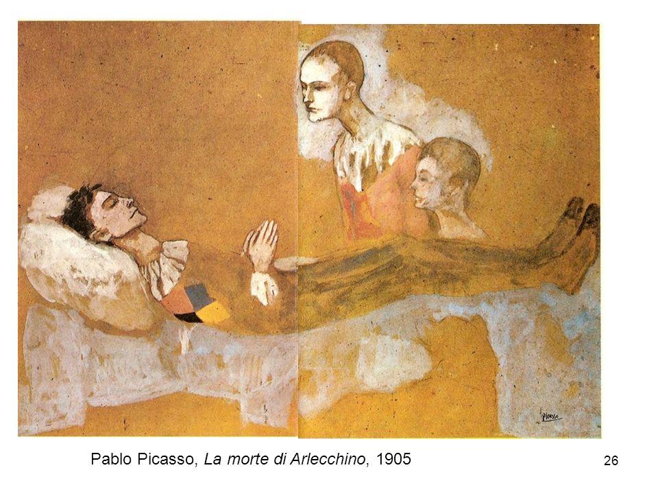 26 Pablo Picasso, La morte di Arlecchino, 1905