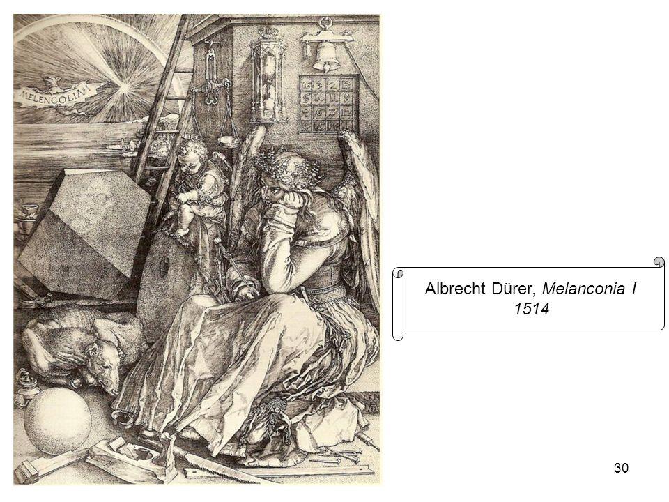 30 Albrecht Dürer, Melanconia I 1514