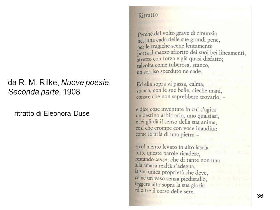36 da R. M. Rilke, Nuove poesie. Seconda parte, 1908 ritratto di Eleonora Duse