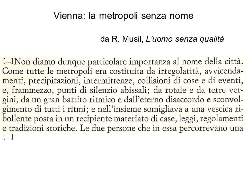 […] Vienna: la metropoli senza nome da R. Musil, Luomo senza qualità