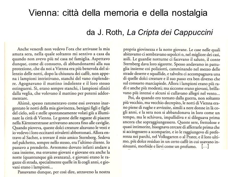 Vienna: città della memoria e della nostalgia da J. Roth, La Cripta dei Cappuccini […]