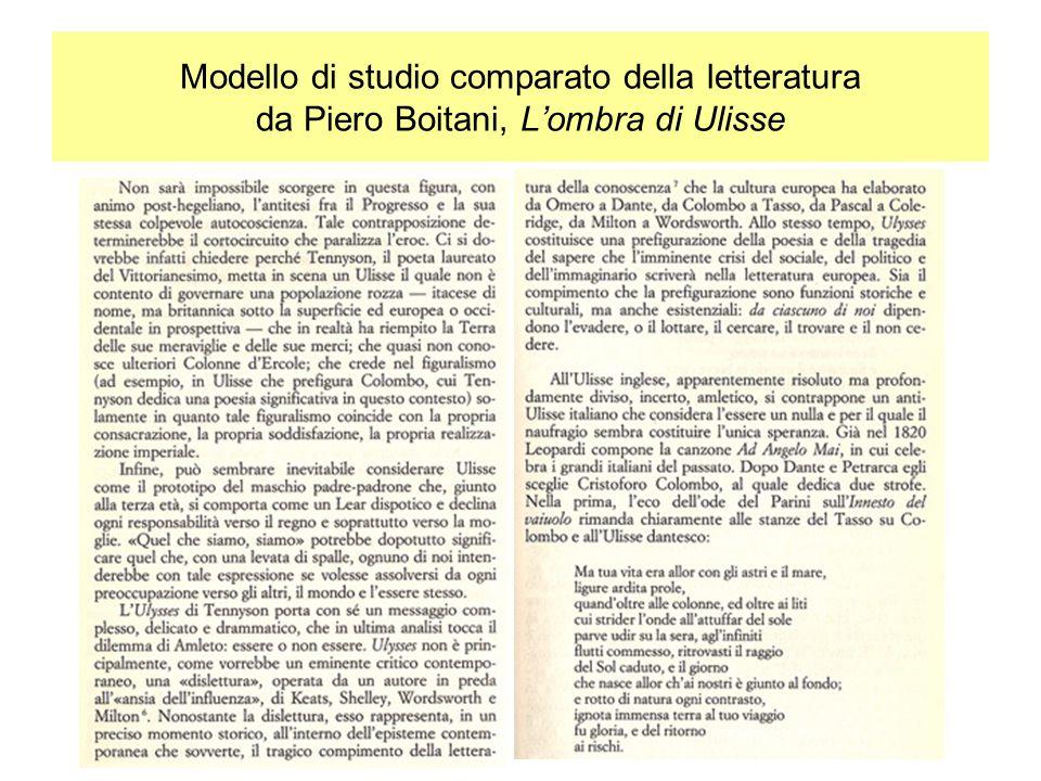 Modello di studio comparato della letteratura da Piero Boitani, Lombra di Ulisse