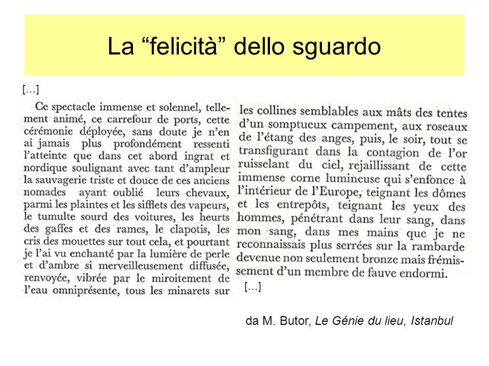 La felicità dello sguardo da M. Butor, Le Génie du lieu, Istanbul […]