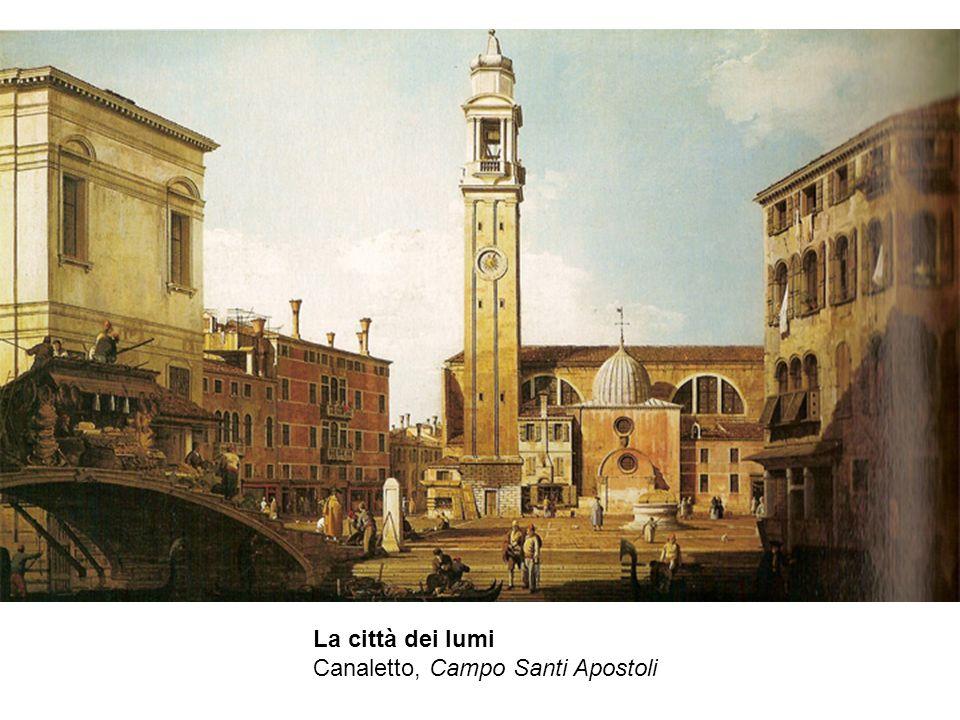 La città dei lumi Canaletto, Campo Santi Apostoli