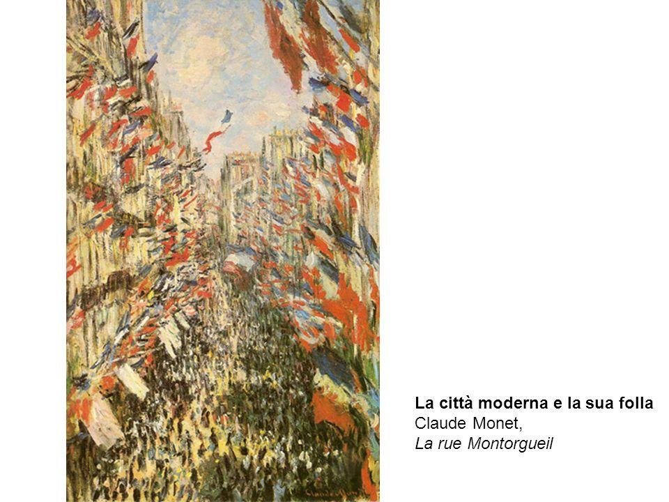 La città moderna e la sua folla Claude Monet, La rue Montorgueil