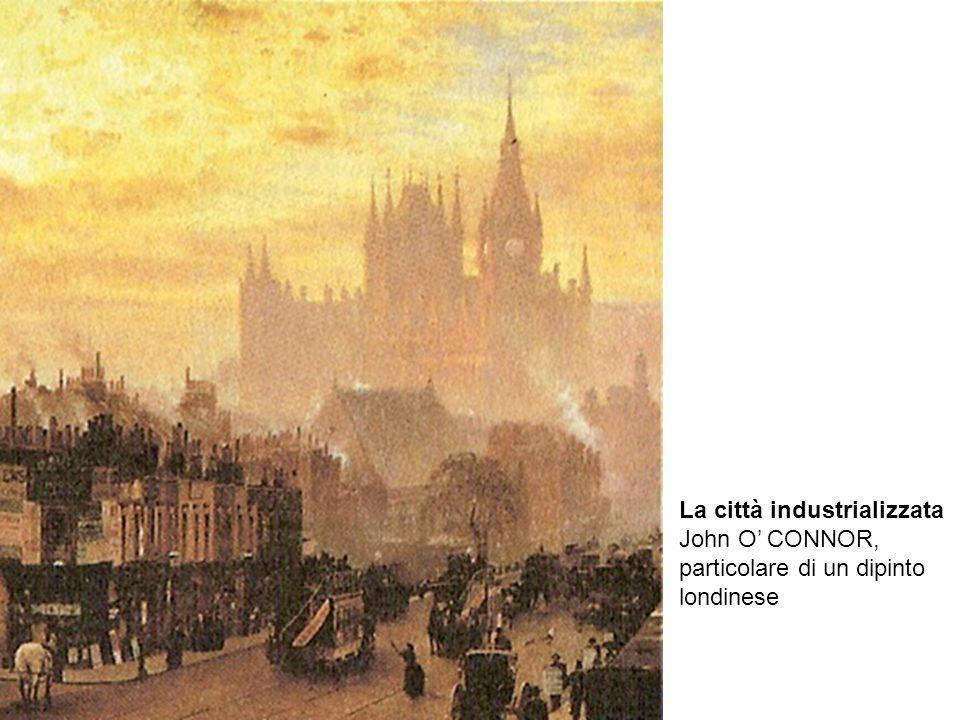 La città industrializzata John O CONNOR, particolare di un dipinto londinese