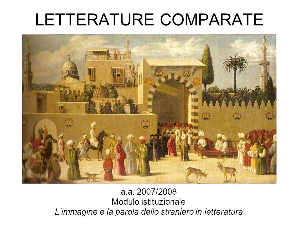 LETTERATURE COMPARATE a.a. 2007/2008 Modulo istituzionale Limmagine e la parola dello straniero in letteratura