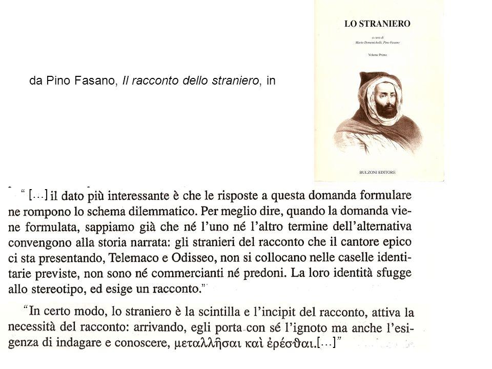 […] […] da Pino Fasano, Il racconto dello straniero, in