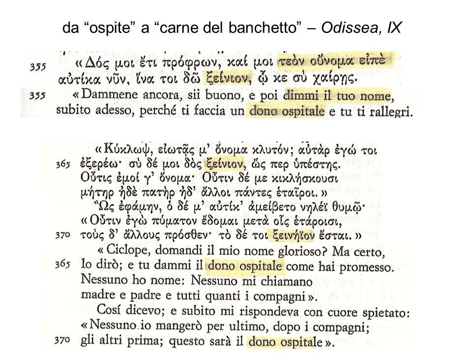 da ospite a carne del banchetto – Odissea, IX