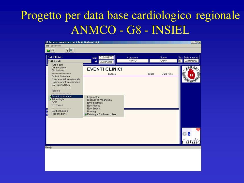 Progetto per data base cardiologico regionale ANMCO - G8 - INSIEL