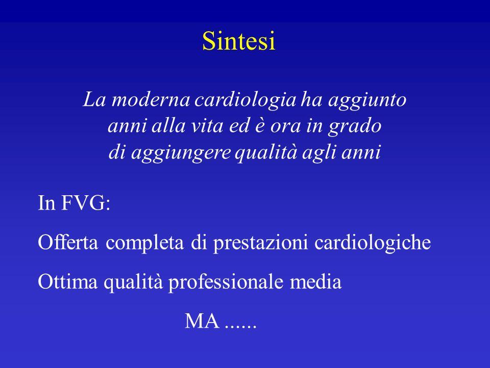 La moderna cardiologia ha aggiunto anni alla vita ed è ora in grado di aggiungere qualità agli anni In FVG: Offerta completa di prestazioni cardiologi